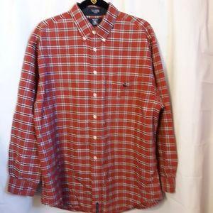 Hunt Club button up long sleeve red plaid shirt